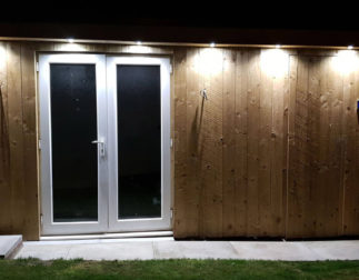 LBM Electrical Blyth Electricians - LED Outside Spot Lights Installed To Man Cave Home Office Unit