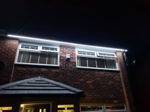 LBM Electrical Blyth Electricians - White LED Outside Strip Lighting Install