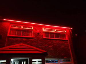 LBM Electrical Blyth Electricians - Red LED Outside Strip Lighting Install