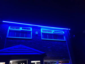 LBM Electrical Blyth Electricians - Blue LED Outside Strip Lighting Install
